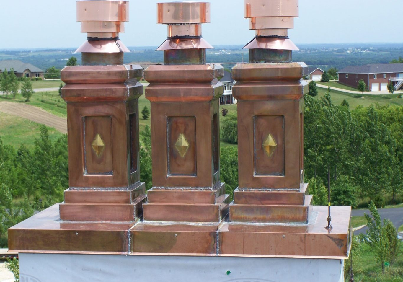 Copper Flue Caps